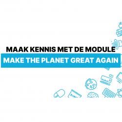 Lespakket in de kijker: Make the planet great again